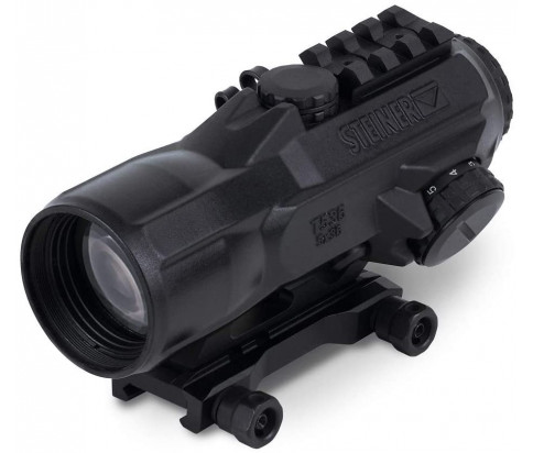 Steiner Optics - T536 (5x36mm) T-Sight Rifle Red Dot Sight with Rubber Armoring, Waterproof, Fogproof and Shockproof, 5.56 Reticle