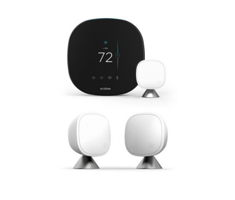 ecobee Smart Thermostat with Voice Control + Ecobee SmartSensor 2Pack