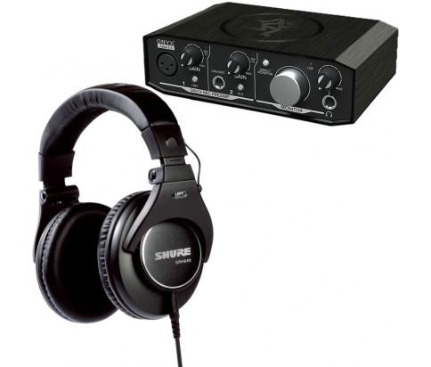 Shure + Mackie Bundle - SRH840 Professional Monitoring Headphones + Onyx Artist 1•2