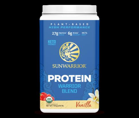 Sunwarrior - Warrior Blend - Organic Vegan Protein Powder with BCAAs and Pea Protein (Vanilla, 30 Servings)
