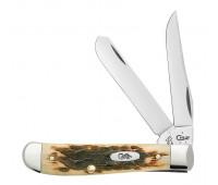 Case Knives - Amber Bone Peach Seed Jig Mini Trapper