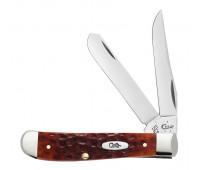 Case Knives - Chestnut Bone Standard Jig Chrome Vanadium Mini Trapper