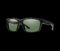 Smith Optics - Basecamp Polarized Sunglasses with Chromapop Gray/Green Lens, Matte Black