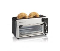 Hamilton Beach - Toastation Toaster & Oven Black