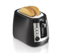 Hamilton Beach - Warm Mode 2-Slice Toaster Black