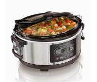 Hamilton Beach - 5 Qt. Programmable Stay or Go Slow Cooker