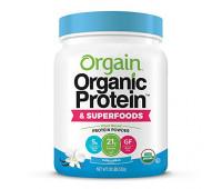 Orgain - Organic Vegan, Gluten Free Plant Based Protein & Superfoods Powder - Vanilla Bean (1.12 LB)