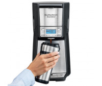 Hamilton Beach - BrewStation 12 Cup Programmable Coffeemaker Black/Stainless