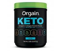 Orgain - Keto Collagen, Gluten Free, Paleo Friendly Protein Powder with MCT Oil - Vanilla  (0.88 LB)