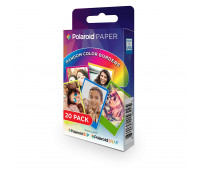 Polaroid 2x3 Zink 20pk PREMIUM RAINBOW FRAME