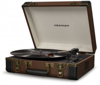 Crosley - Executive Deluxe Portable USB Turntable - Brown
