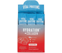 Vital Proteins Hydration + Collagen Low Sodium Electrolyte Powder Supplement - Tropical Blast (7 Pack)