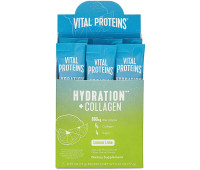 Vital Proteins Hydration + Collagen Low Sodium Electrolyte Powder Supplement - Lemon Lime (7 Pack)