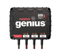 NOCO Genius GENM3 12 Amp 3-Bank Waterproof Smart On-Board Battery Charger