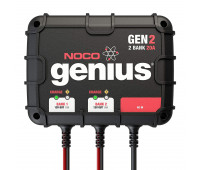 NOCO Genius GEN2 20 Amp 2-Bank Waterproof Smart On-Board Battery Charger