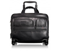 Tumi Alpha 2 4 Wheeled Deluxe Leather Brief with Laptop Case