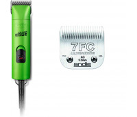 Andis UltraEdge Super 2-Speed Detachable Blade Clipper, Professional Animal/Dog Grooming, AGC2 - Green + Andis UltraEdge Detachable Clipper Blade