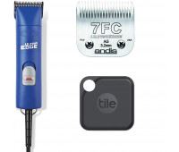 Andis UltraEdge Super 2-Speed Detachable Blade Clipper, Professional Animal/Dog Grooming, AGC2 - Blue + Andis UltraEdge Detachable Clipper Blade + Tile Pro (2020) - 1 Pack