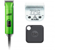 Andis UltraEdge Super 2-Speed Detachable Blade Clipper, Professional Animal/Dog Grooming, AGC2 - Green + Andis UltraEdge Detachable Clipper Blade + Tile Pro (2020) - 1 Pack