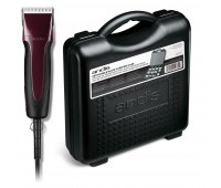 Andis Pro-Animal Bundle With Excel 5-Speed+ Detachable Blade Clipper — Burgundy + Blade Carrying Case