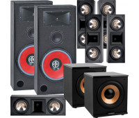BIC America RTR-EV15 7.2 Home Theater System with 5 FH6-LCR + 2 H-100