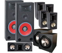 BIC America RTR-EV15 7.2 Home Theater System with FH6-LCR + 4 FH-65B + 2 F-12