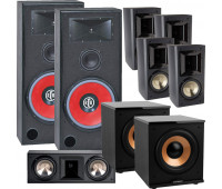 BIC America RTR-EV15 7.2 Home Theater System with FH6-LCR + 4 FH-65B + 2 H-100