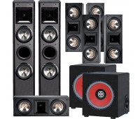 BIC America FH-6T 7.2 Home Theater System with 5 FH6-LCR + 2 RTR-EV1200