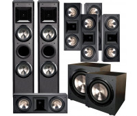 BIC America FH-6T 7.2 Home Theater System with 5 FH6-LCR + 2 F-12