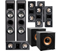 BIC America FH-6T 7.2 Home Theater System with 5 FH6-LCR + 2 H-100
