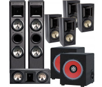 BIC America FH-6T 7.2 Home Theater System - FH6-LCR + 4 FH-65B + 2 RTR-EV1200