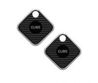 Cube Pro Waterproof Smart Bluetooth Tracking Device with Replaceable Battery - 2 pack
