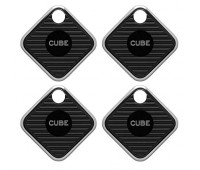 Cube Pro Waterproof Smart Bluetooth Tracking Device with Replaceable Battery - 4 pack