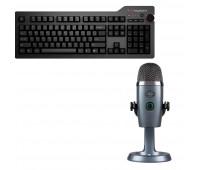 Das Keyboard Bundle with 4 Professional Mechanical Keyboard  + Blue Mic Yeti Nano