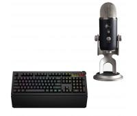 Das Keyboard Bundle with 5Q Mechanical Keyboard: RGB-WIN-MAC-LINUX + Blue Mic YETI PRO