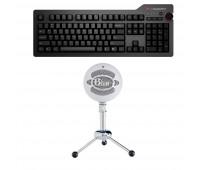 Das Keyboard Bundle with 4 Professional Mechanical Keyboard  + Blue Mic Snowball