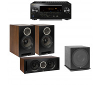 ELAC Debut Reference DFR52 Floorstanding Speaker - Pair - Black 3.1 Channel Home Theater System Bundle With Pioneer Elite VSX-LX504 Receiver