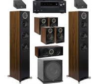 ELAC Debut Reference 9.1 Dolby Atmos Home Theater System Bundle With DFR52 Floorstanding Speakers and Onkyo TX-NR696