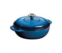 Lodge 3 Quart Blue Enameled Cast Iron Dutch Oven