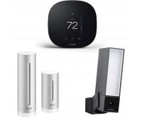 ecobee3 lite Smart Thermostat Bundle with Netatmo Weather Station, NWS01-US + Netatmo Presence, Smart Outdoor Security Camera