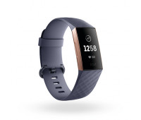 Fitbit - Charge 3 Fitness Tracker Rose Gold/Blue Gray