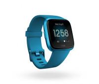 Fitbit - Versa Lite Smartwatch Marina Blue/Marina Blue Aluminum