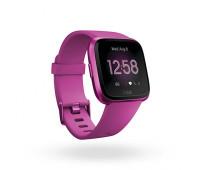 Fitbit - Versa Lite Smartwatch Mulberry/Mulberry Aluminum
