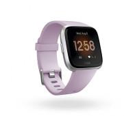 Fitbit - Versa Lite Smartwatch Lilac/Silver Aluminum