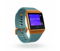 Fitbit - Ionic Smartwatch Slate Blue/Burnt Orange