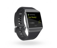 Fitbit - Ionic Smartwatch Charcoal/Smoke Gray