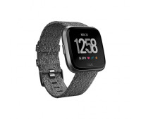 Fitbit - Versa Special Edition Smartwatch Charcoal Woven/Graphite