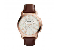 Fossil Men's Grant Chronograph Brown Leather Watch