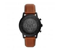 Fossil Men's Hybrid Smartwatch HR Collider Tan Leather