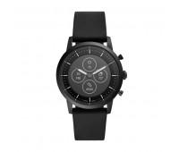 Fossil Men's Hybrid Smartwatch HR Collider Black Silicone